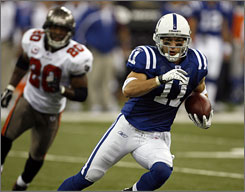 Colts rookie wide receiver Anthony Gonzalez has started six games with Pro Bowler Marvin Harrison injured.