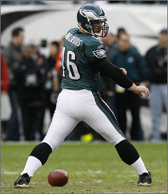 """""""When I got here, everyone said watch out for his magic,"""" says Eagles rookie punter Saverio Rocca says of long snapper Jon Dorenbos, above. """"I thought it'd be basic stuff, but he does tricks that really blow your mind."""""""