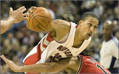 Raptors forward Jamario Moon, 27, is seventh in scoring and second in rebounding among NBA rookies.