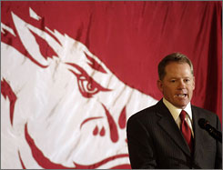 Bobby Petrino left the Atlanta Falcons abruptly on Tuesday to become the head coach at the University of Arkansas.