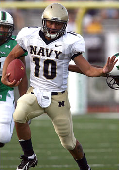 Quarterback Kaipo-Noa Kaheaku-Enhada and the rest of the Midshipmen will play their first game under new head coach and previous assistant Ken Niumatolo, who's stepping in for Georgia Tech-bound Paul Johnson.