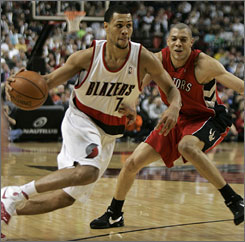 Brandon Roy and the Portland Trail Blazers are contending for the Northwest Division title after finishing 18 games under .500 last season.