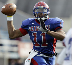 Jeannette (Pa.) quarterback Terrelle Pryor is this year's All-USA offensive player of the year after compiling over 4,000 yards passing and 4,000 yards rushing in his prep career.