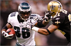 Eagles running back Brian Westbrook leads the NFL with 2,005 yards from scrimmage and boasts an impressive 86 receptions out of the backfield.