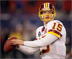 After a 10-year career that saw him mainly playing as a backup, Todd Collins has won all three of the games he has played in this season for the Washington Redskins after Jason Cambell went out with an injury on Dec. 6.