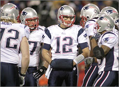 Quarterback Tom Brady and the Patriots, winners of three of the last six Super Bowls, will finish the regular season a perfect 16-0 if they can beat the Giants in New York on Saturday night.