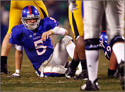 Todd Reesing and Kansas will be looking to make amends after losing to Missouri in their regular-season finale.