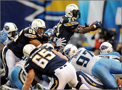The Chargers will likely need more than 42 yards rushing from LaDainian Tomlinson to beat the Indianapolis Colts on Sunday.