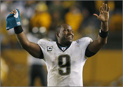 David Garrard and the Jacksonville Jaguars earned a trip to Foxborough to play the undefeated Patriots after winning in Pittsburgh for the second time this season.