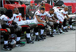 Members of the Tampa Bay Buccaneers reflect on the team's season-ending loss in the closing minutes on Sunday.