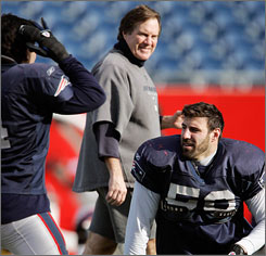 Patriots coach Bill Belichick added playmakers such as Wes Welker and Randy Moss to a team that just fell short of reaching the Super Bowl last season.