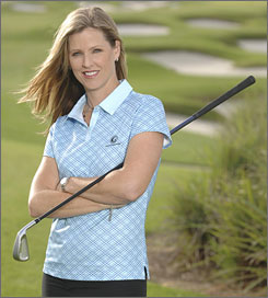 Kelly Tilghman, the first full-time female anchor of golf coverage, has been with the Golf Channel since its inception in 1995.