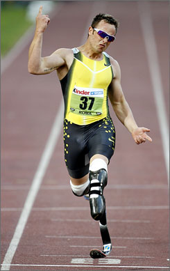 The IAAF is expected to announce Saturday that South African runner Oscar Pistorius is ineligible to compete at the Beijing Olympics.