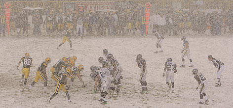 The Green Bay Packers parlayed the snow at Lambeau Field into a home-field advantage against the Seattle Seahawks on Saturday. The Packers improved to 15-2 all time in home playoff games.