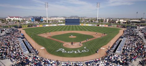 The San Diego Padres and Seattle Mariners share their spring training home at the Peoria Sports Complex in Peoria, Ariz.