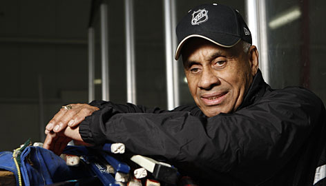 This month marks the 50th anniversary of Willie O'Ree's debut as the NHL's first black player when he suited up for the Boston Bruins. O'Ree now serves as the director of youth development for the league's diversity task force.
