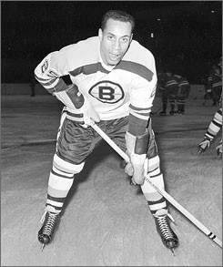 After breaking the color barrier for the Boston Bruins against the Montreal Canadiens on Jan. 18, 1958, Willie O'Ree scored four goals in 45 games over parts of two NHL seasons.