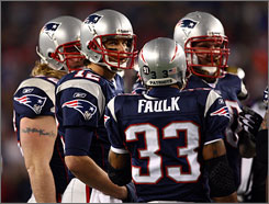 "Tom Brady is Mr. Dependable to his teammates. Says running back Kevin Faulk, ""No matter what the situation is, and no matter how tight the game gets, you know that guy is going to do his job."""