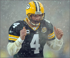 Bitter cold temperatures are expected for the NFC Championship Game when Brett Favre and the Packers will host the Giants.