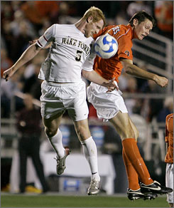 Wake Forest's Patrick Phelan, left, is highly touted as the MLS prepares for its 2008 draft on Friday. Clubs also have their eyes on Phelan's teammate Julian Valentin.