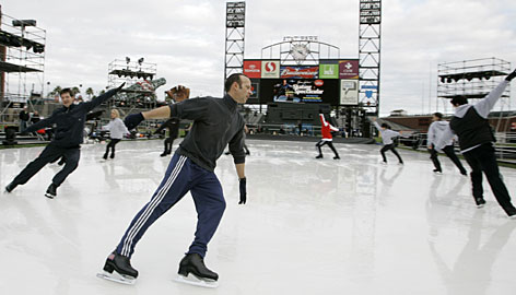 44-year-old Brian Boitano is still actively involved in skating, 20 years after winning a gold medal at the Calgary Olympics.