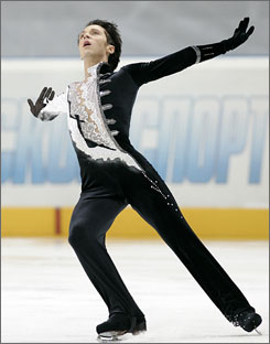 Johnny Weir performs his short program at the Cup of Russia in Moscow last November. This weekend, he's aiming to recapture the U.S. championship after falling short last year.