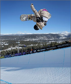 Gretchen Bleiler took first place in the U.S. Snowboarding Grand Prix in Breckenridge, Colo. in December. She's hoping to market herself and achieve competitive success at this weekend's Winter X Games.