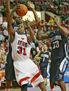 Mike Coburn (31) scored 23 points to help Rutgers earn its first win over a ranked opponent since Jan. 18, 2006.