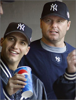 Andy Pettitte, left, and Roger Clemens will both testify in front of Congress about steroid use in baseball.