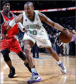 Hornets forward David West is averaging career highs in scoring (19.5) and rebounding (9.3) this season.