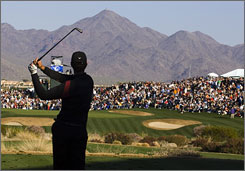 The crowd around No. 16 at TPC Scottsdale will roar its approval for a good shot or bring on the abuse for a tee ball that misses the green this weekend during the FBR Open.
