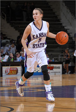 Kansas State junior point guard Shalee Lehning, who stands 5-9, is a big part of why the Wildcats have won nine consecutive games.