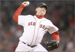 Boston's Curt Schilling beat the Rockies in Game 2 of the World Series last fall. But his offseason has been much more uncomfortable as a shoulder injury has left his status for 2008 in doubt.