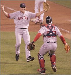 Keith Foulke forever etched his name in baseball history when he was on the mound for the final out of Boston's 2004 World Series clincher in St. Louis. The victory ended an 86-year title drought for the Red Sox.