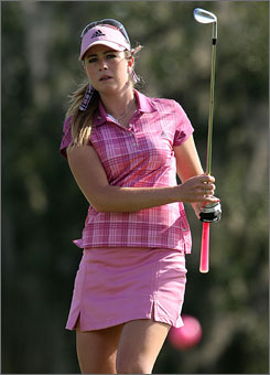 "Paula Creamer creates a stir with her vivacity, golf swing and success on the course. ""Paula is the all-American girl who plays great golf,"" says an executive with one of her many sponsors."