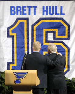 If Brett Hull hadn't been traded from the Flames to the Blues early in his career, his number wouldn't have been retired in St. Louis.