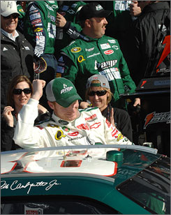 Dale Earnhardt Jr. claimed his second consecutive race at Daytona when he took the first of the Daytona qualifiers on Thursday.