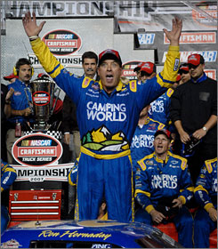 Ron Hornaday Jr. will need to hold off teammate Jack Sprague if he wants to repeat his trucks series championship.