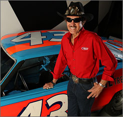 Richard Petty lasted eight laps in the first Daytona 500 in 1959, but he eventually won the race seven times.