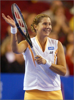 Monica Seles, who won nine Grand Slam singles titles, hasn't played a match since a first-round loss at the 2003 French Open.