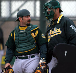 Oakland minor-leaguer Jeremy Brown, left, a subject in the book Moneyball, announced that he would be retiring for personal reasons.