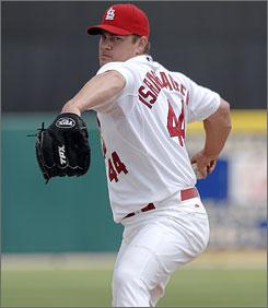 A return to health has Cardinals reliever Jason Isringhausen optimistic before this season.