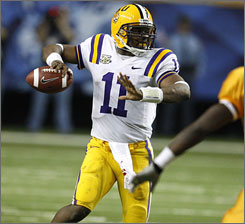 Ryan Perrilloux was the starting quarterback when LSU beat Tennessee in the SEC title game.