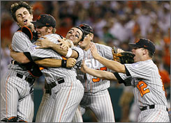 Oregon State hopes to end the 2008 season with another celebration at the College World Series.