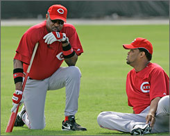 The Reds have a new manager this season in Dusty Baker, left, and a new closer in Francisco Cordero. Both are being counted on to help the club improve on its fifth-place standing in the NL Central a year ago.