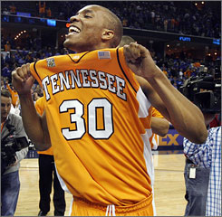 J.P. Prince had bragging rights after Tennessee beat Memphis on Saturday night.