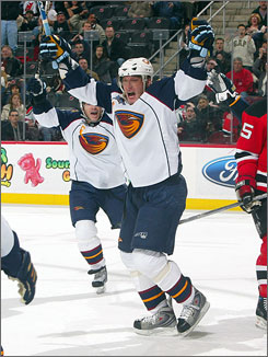 """Right wing Marian Hossa, pictured here on Feb. 15 in a game against New Jersey, is expected to make life easier for Sidney Crosby and the Pittsburgh Penguins.  """"We always had a hard time finding a fit for Sid, and I believe Marian is the guy that can think at that level and skate at that level,"""" Penguins general manager Ray Shero said."""