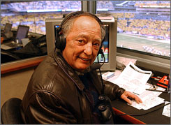 Myron Cope broadcast Steelers games for 35 years and created the team's Terrible Towel.
