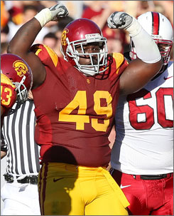 Southern California's Sedrick Ellis is among the top defensive linemen available in the NFL draft class. The value of pass rushers is even higher this year after the success of the New York Giants' front four in Super Bowl XLII.