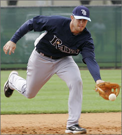 Evan Longoria, Tampa Bay's No. 1 draft pick in 2006, probably will be the Rays' starting third baseman.